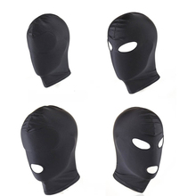 4 Style Fetish BDSM Mask Hoods Adult Games Black Head Mask Sex BDSM Men Gay Open Mouth Eye Bondage Sex Adult Sex Toys for Couple цены
