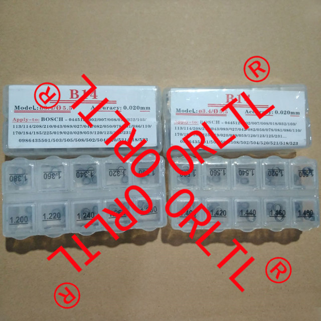 US $11 5  adjusting shim kit common rail injector repair washers B14 size  1 20mm 1 38mm for Bosch common rail injector-in Fuel Injector from