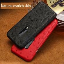 Чехол для телефона из натуральной страусиной кожи one plus 7