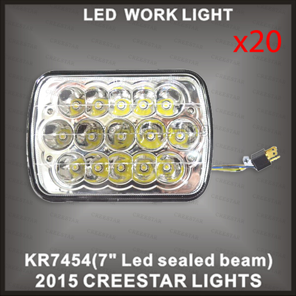 7inch x 5inch led sealed beam used for truck KR7454 20pcs/lots DHL free shipping external sealed beam