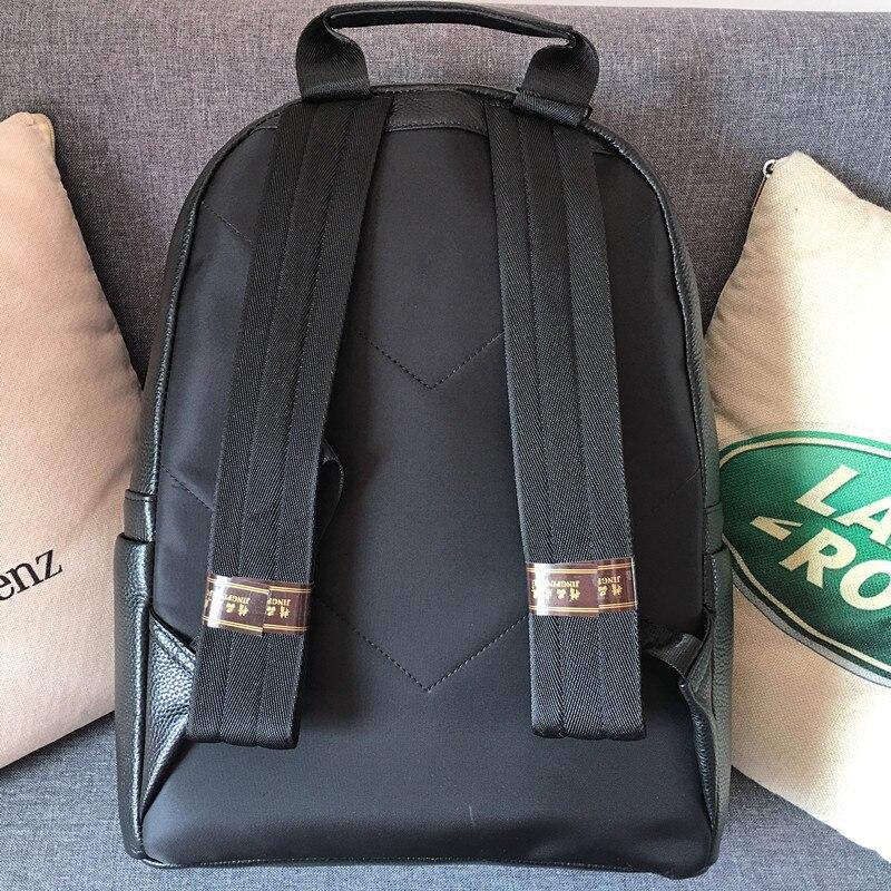 Kaisiludi cuir double sac à bandoulière grande capacité sac à dos hommes et femmes sac d'ordinateur affaires simple sac de voyage - 2