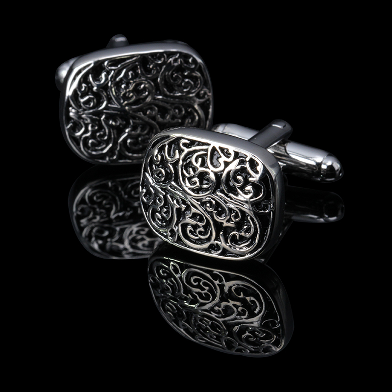 Hot New high quality Vintage Wave Pattern Cuff Link Retro Exquisite Men s cufflinks round Sleeve