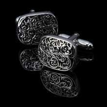 Hot!!! New high quality Vintage Wave Pattern Cuff Link Retro Exquisite Men's round Sleeve Nail hot style free shipping