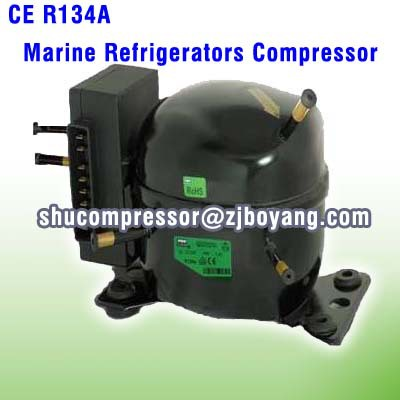 R134A Mini DC Compressor For Battery CoolingTelecommunications Battery Cooling the compressor r134a qd65h 155w