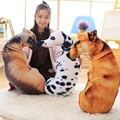 Creative Grievance spotty dog pillow Simulated dog Plush toys Imitation dog doll Cartoon birthday gift 50cm