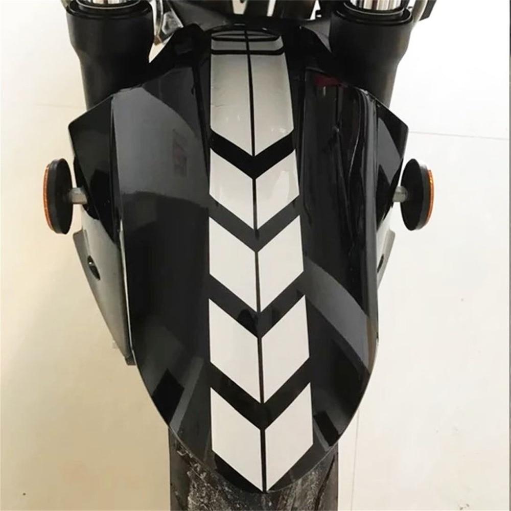 Motorcycle Stickers Reflective Wheel Car Sticker Decal on Fender Waterproof 34x5cm 4