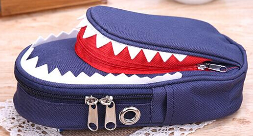 Shark Style Kids Pencil Case For Boys Zipper Children Pouch Bag Student Pen Box For Primary School Bag Accessory
