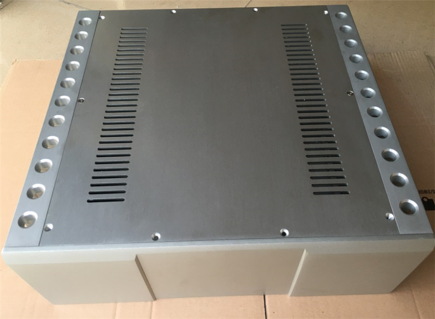QUEENWAY Z009 Boulder Accurate CNC Full Aluminum case Chassis Audio box class A power amplifier 430mm*150mm*410mm 430*150*410mm фонокорректоры boulder 1008