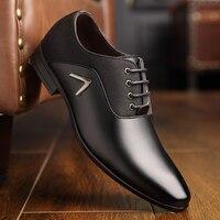 OSCO Men Dress Shoes Men Formal Shoes Leather Luxury Fashion Wedding Shoes Men Business Casual Oxford Shoes