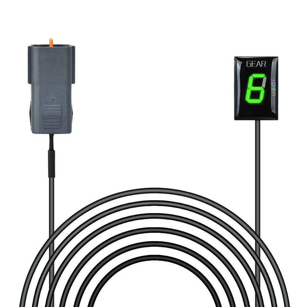 round, Green IDEA Waterproof Motorcycle Gear Indicator Plug /& play LED Display for Kawasaki
