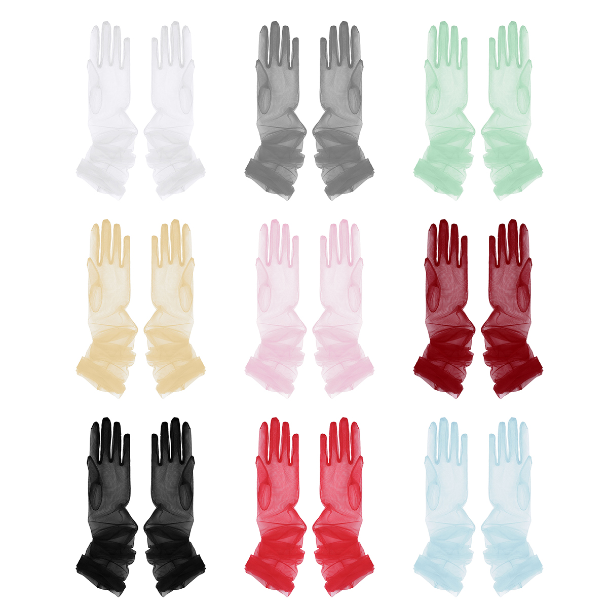 Long Gloves Sheer Tulle Gloves Ultra Thin Ultra Gloves Elbow Long Gloves Photo Shooting Accessory Halloween Gloves For Women