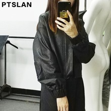 Ptslan 2017 New Real Leather Jacket Women Ong Oversized Causal Fashion Female Ladies Genuine Leather Coat