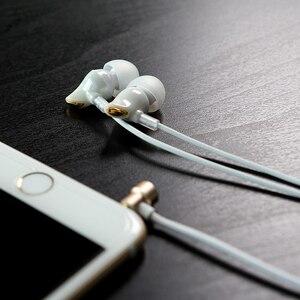 Image 2 - ROCK In Ear cyrkon słuchawki stereo gorąca sprzedaż 3.5mm zestaw słuchawkowy do iphonea 6 6S 5 5S SE 4 4S Samsung luksusowe słuchawki douszne z mikrofonem