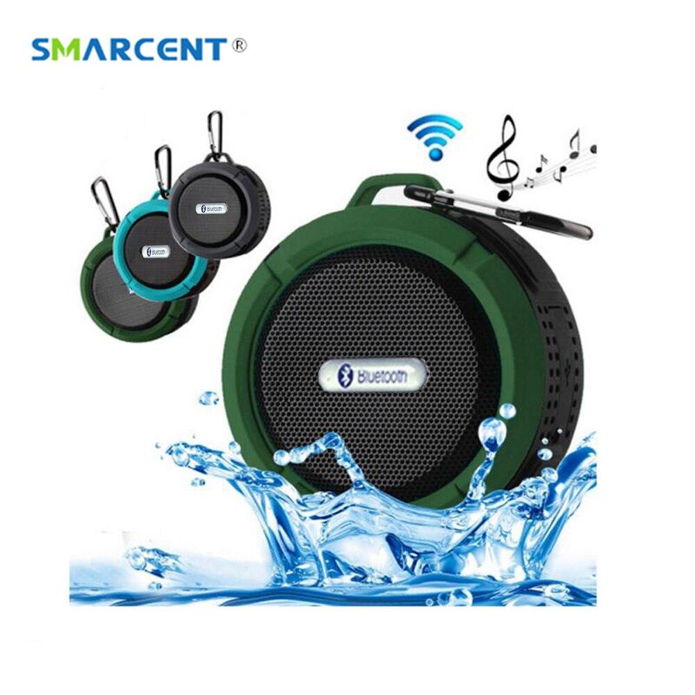 SMARCENT Tragbare Mini Bluetooth Lautsprecher Wasserdichte Outdoor Wireless Auto Bluetooth Altavoz mit Anrufe Freisprechmodus und Saugnapf