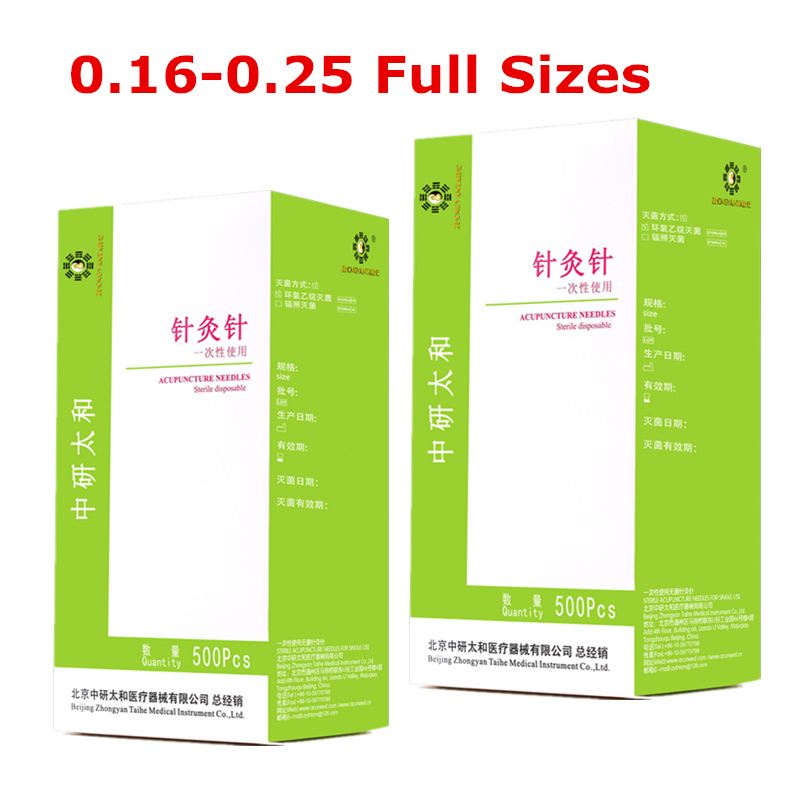 1000pcs 2box Zhongyan Taihe Acupuncture Needles 1000 Needle Acupuncture Disposable Needle Chinese  Sterile Facial Needle(China)