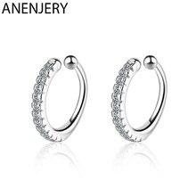 ANENJERY – boucles d'oreilles en argent Sterling 925 pour femmes, Clip, Micro incrusté, Zircon