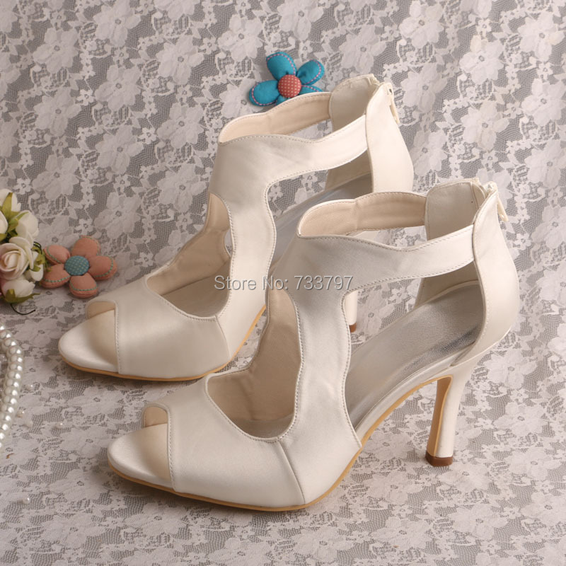 ФОТО Wedopus MW534 Customize Handmade Womens High Heel Wedding Sandals Ivory