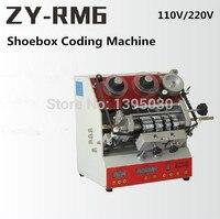 1pcs ZY RM6 Semi Automatic shoe box coding machine Pedal code printer Code letter press Card Embosser Printer