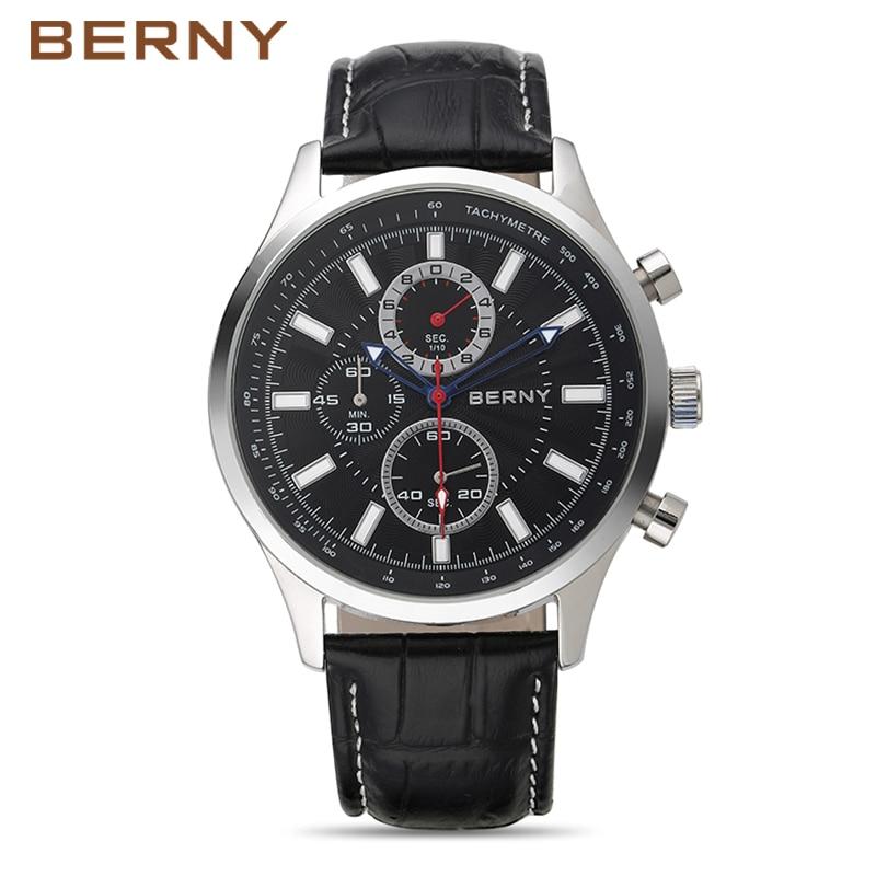 Bury Bern Watch Men kuarc Mens Watches Fashion Top Luxury Brand - Ora për meshkuj
