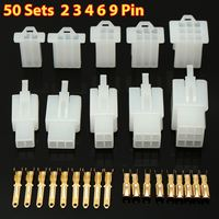 KROAK 50 Sets Autos Electrical 2 8 Mm 2 3 4 6 9 Pin Electrical Wire