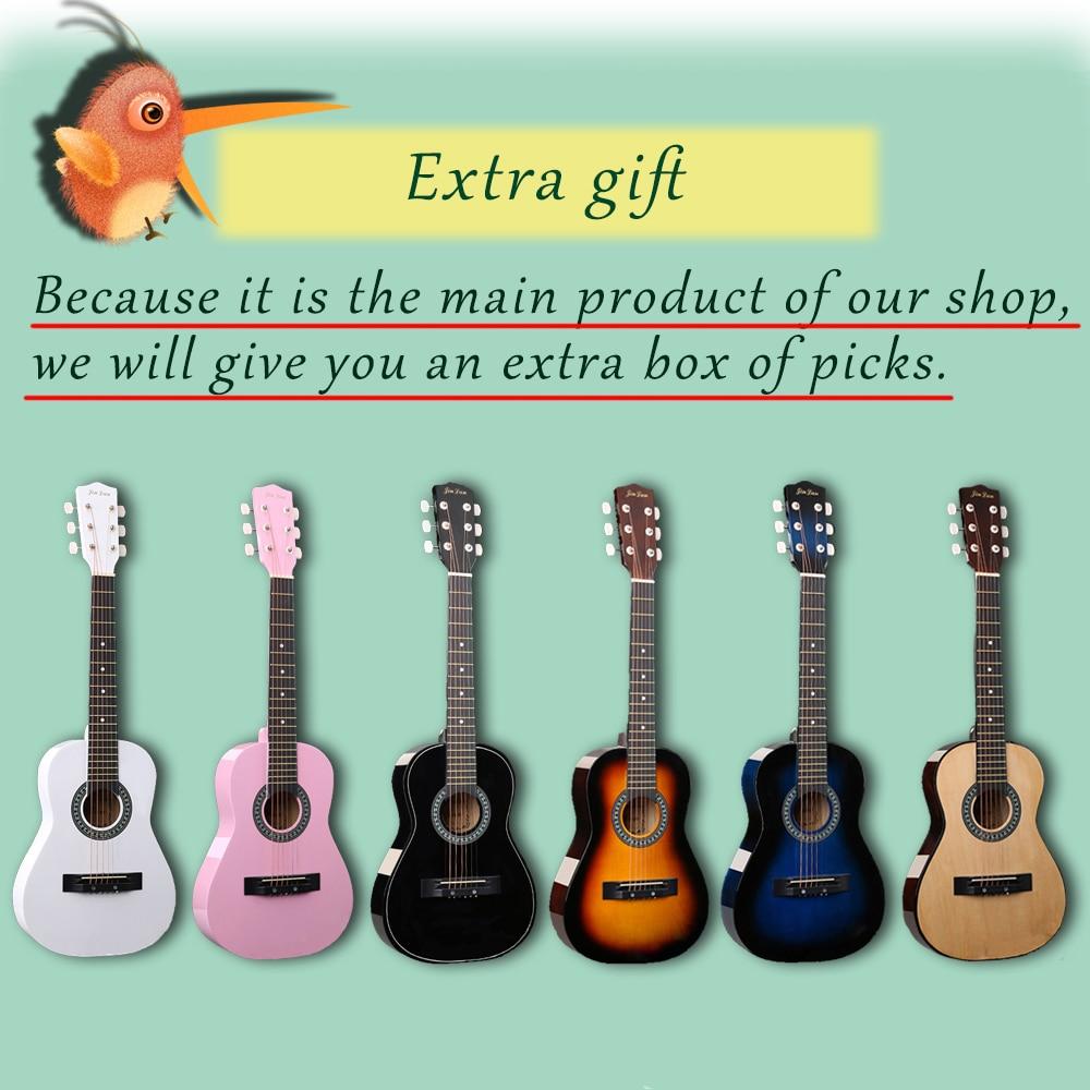 30 pouces guitare Folk acoustique Guitarra 6 cordes Top qualité tilleul pour enfants débutant donner des choix cadeau AGT05 - 2