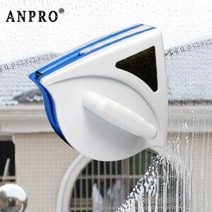 Image 1 - Anpro المنزل نافذة ممسحة الزجاج فرشاة تنظيف أداة مزدوجة الجانب المغناطيسي فرشاة لغسل النوافذ الزجاج فرشاة تنظيف أداة
