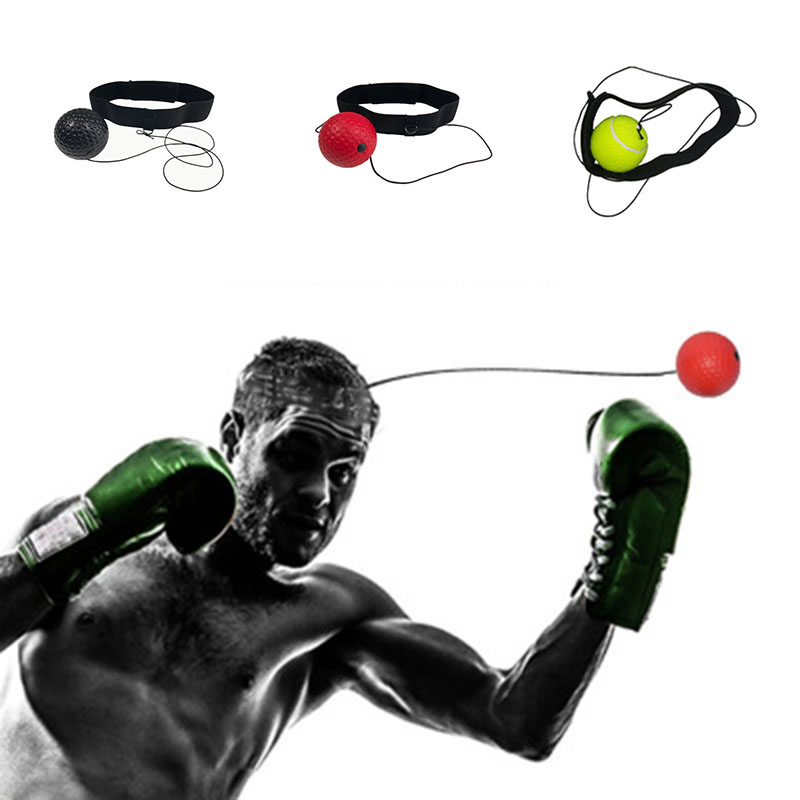 Hand Eye Training Set Head-Mounted Boxing Reflex Ball Toys To Rais Reaction Boxing Training Ball Outdoor Toys Ball