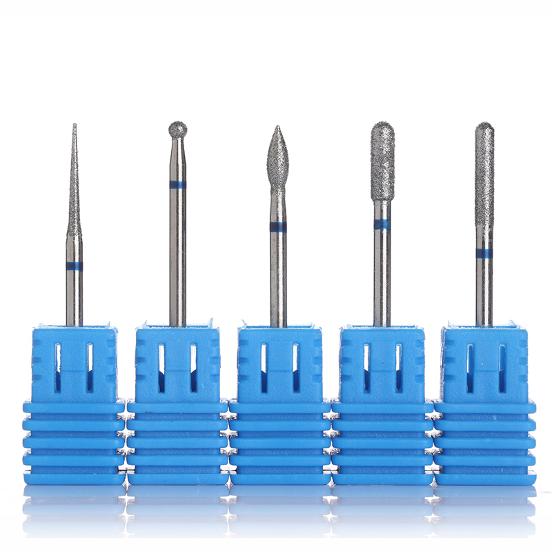 5 Pcs Carbide Nail Drill Bit for Electric Machine Accessory File Broach Blue Manicure Nail