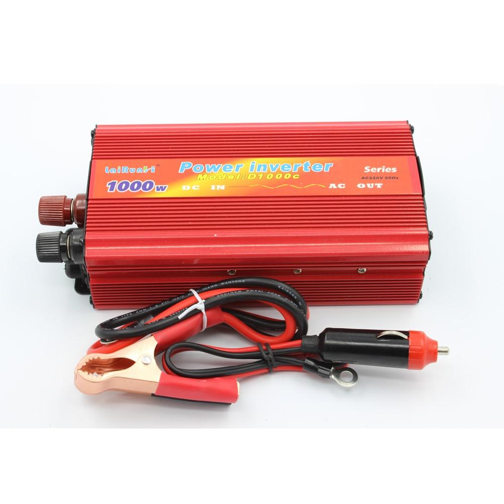 Car inverter 1000w dc 12v 24v to ac 220v power inverter for Ac to dc motor