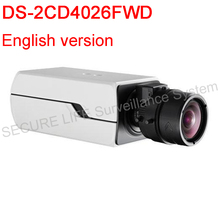 free shipping DS-2CD4026FWD English version 2MP Low Light Smart Camera,Support 128G on-board storage