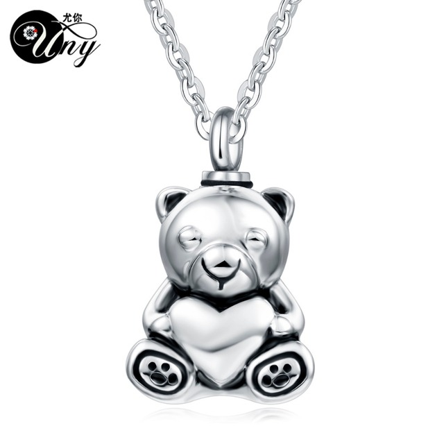 Uny stainless steel teddy bear pet urn ashes pendant perfume uny stainless steel teddy bear pet urn ashes pendant perfume bottle memorial ash keepsake cremation jewelry mozeypictures Images