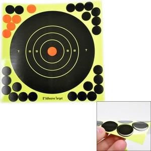 """Image 3 - 50PCS Adhesive Shooting Targets Glow Shot Reactive  8"""" Splatter Gun and Rifle Target Paper"""