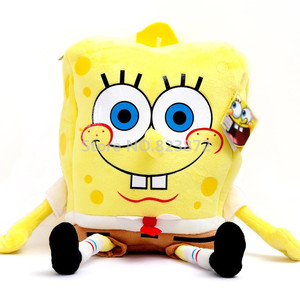 Image 1 - Cute 3D Cartoon SpongeBob Plush Bag Kindergarten Preschool Backpacks Children School Bags for Boys Girls Kids Bag Schoolbag