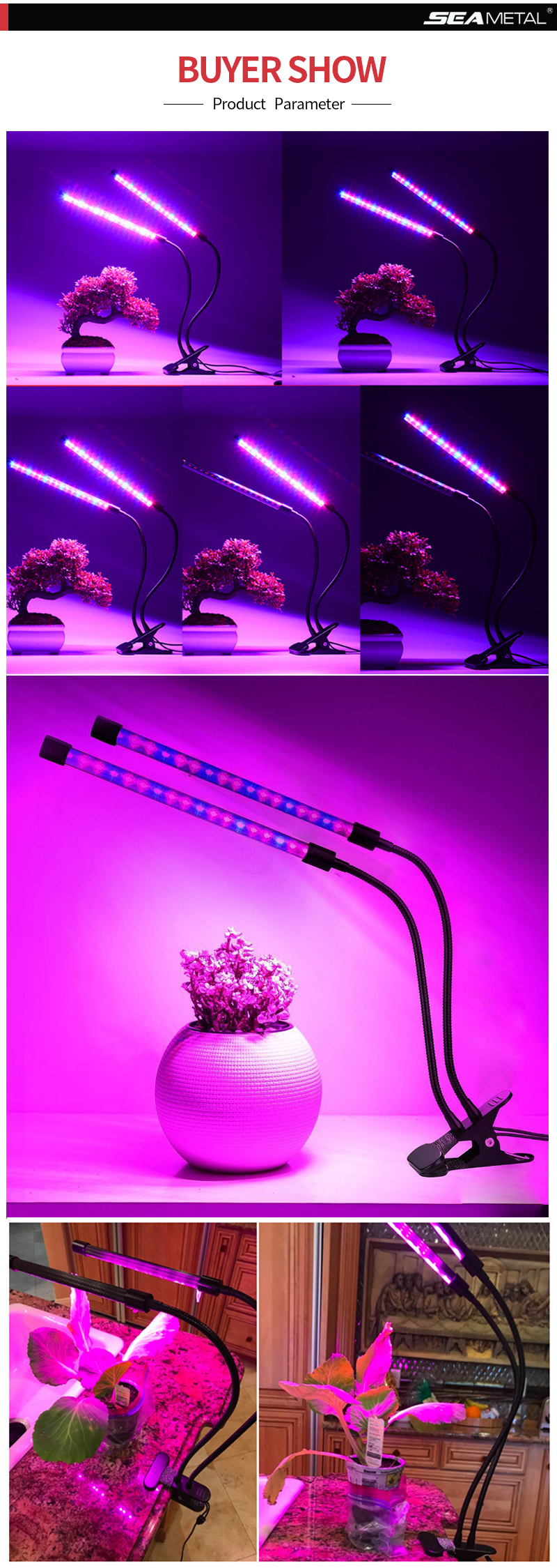 4 Led Grow Light 6W Lamps For Plants Full Spectrum Phyto Lamp Led Seedling Lights Indoor Plant Growing Greenhouse Flower Lamps