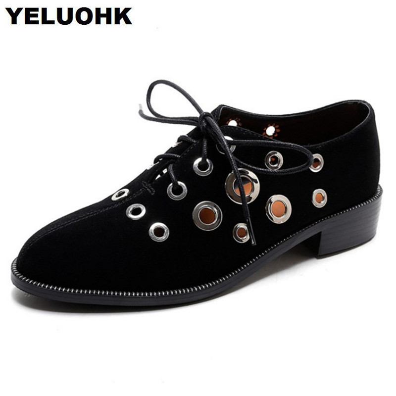 2018 New Hollow Female Summer Shoes British Style Oxford Shoes For Women Flat shoes Thick Soles Loafers High Quality other tamehome 2015 1 4 hifi