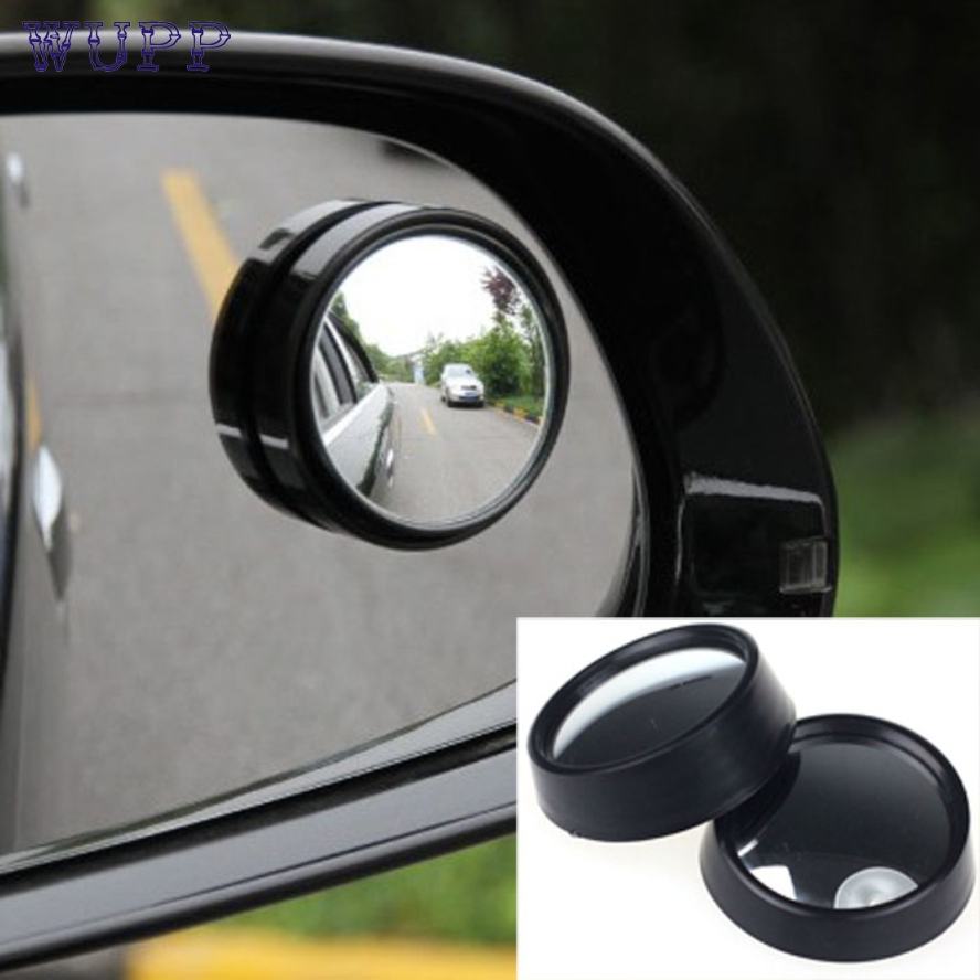 pretty  For Car 2 Pcs Round Stick-On Convex Rearview Blind Spot Mirror Set New