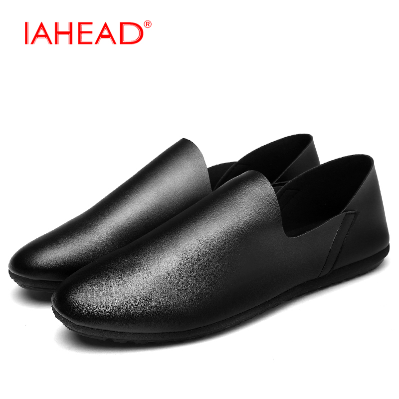Men Casual Shoes Slip-On Leather Soft Loafers Fashion Lazy Shoes Simple Comfortable zapatillas hombre MS209 zapatillas hombre 2017 fashion comfortable soft loafers genuine leather shoes men flats breathable casual footwear 2533408w