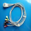 Compatible with 8pin BR-916P Nihon Kohden ECG machine monitor the 6 lead clip leadwires,IEC or AHA.