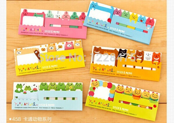 30 Pack/lot Cute Cartoon Notepad Animals Sticky Memo 458 Style memo pad Post stickers Stationery office School supplies