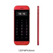 Anica MP3 FM dual-sim-karte bluetooth dialer oled-display touch-taste sync anti-verlorene mini kreditkarte zellen-handy P082
