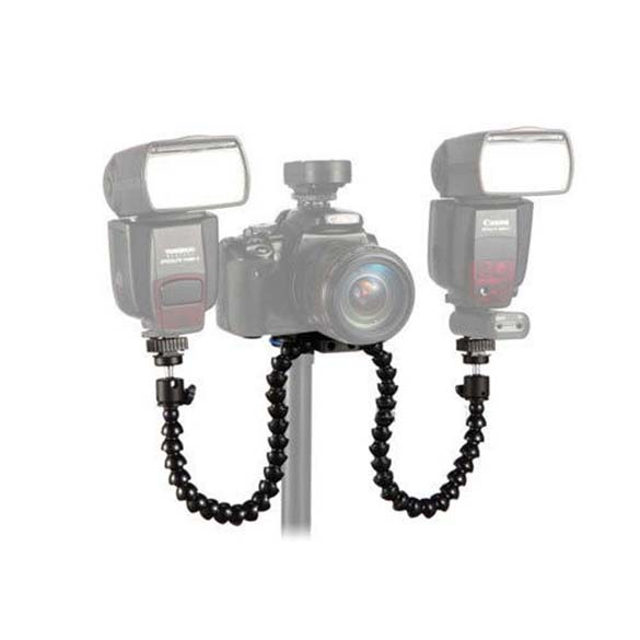 Octopods Bras Studio Macro Twin Flash Flash Light Speedlite Titulaire Mont Support Pour Caméra