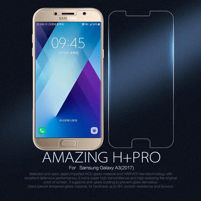 Оригинал Nillkin Протектор Экрана для Samsung Galaxy A3 2017 A320F Закаленное Стекло-Экран Протектор Защитная Пленка + Pro