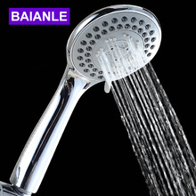 Three-Function ABS Chrome Finish Bathroom Shower Water Saving High Pressure Head Round Shape Hand head