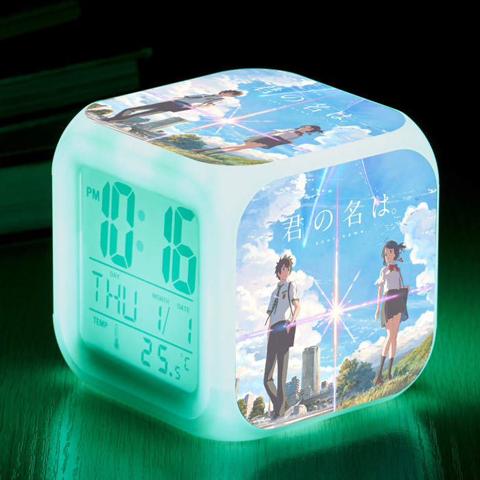 Action & Toy Figures Objective Bare Bear Anime Figure Juguetes Led Colorful Touch Light Alarm Clock We Bare Bear Anime Figuras Kids Toys High Quality And Inexpensive