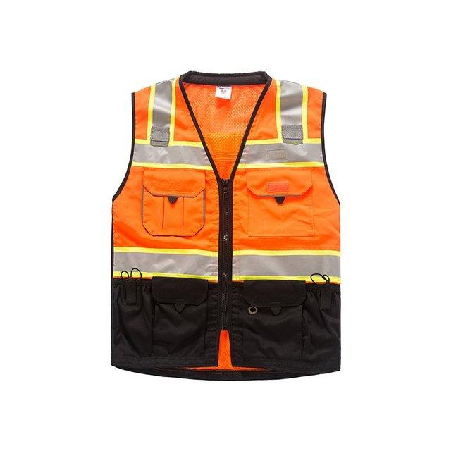 Construção de rodovias tráfego colete de segurança roupas de luxo