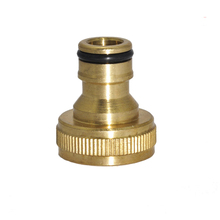 1pc 1/2 and 3/4 Female Thread Brass Copper Quick Connectors joints Home Garden Watering Accessories Car Washing Pipe Fittings