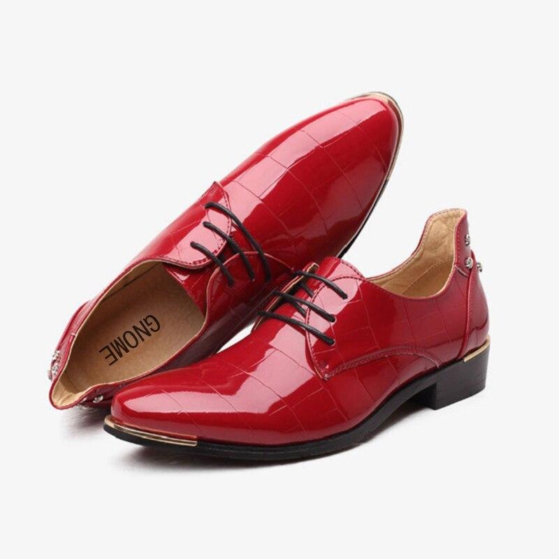 Nouvelle Oxford Marié Mariage Taille Pour De Pu En Grand Hommes Cuir Black Luxe Gnome red Zapatos Mode blue Hombre Chaussures Robe 48 qO74nn8tw