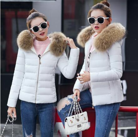 Fashion Winter Short Large Size Faux Fur Collar Cotton Female Coat Plus Size Women Overcoat Thick   Parka   Girl Hooded 4xl 5xl 6xl