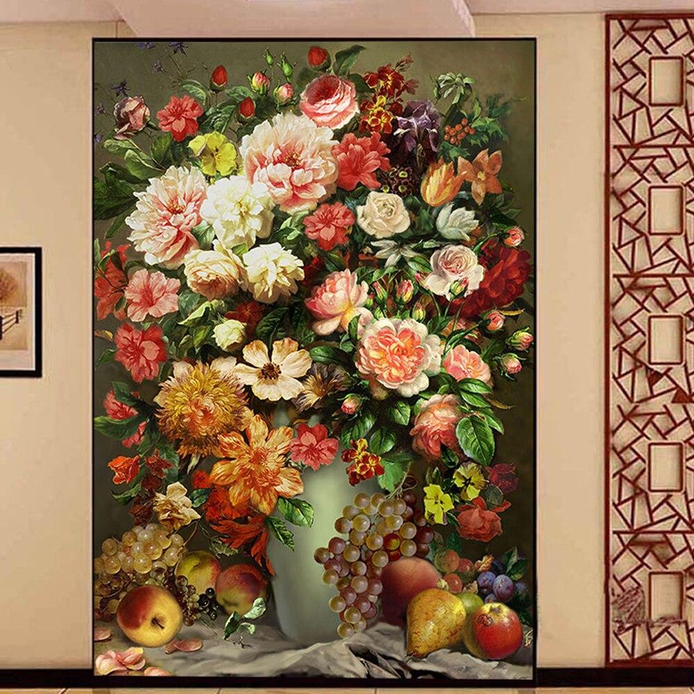 Yazi Kundengebundene Grsse Blume Pvc Tapete Schlafzimmer Wohnzimmer Wandbild Aufkleber Wohnkultur Schranktr AufkleberChina