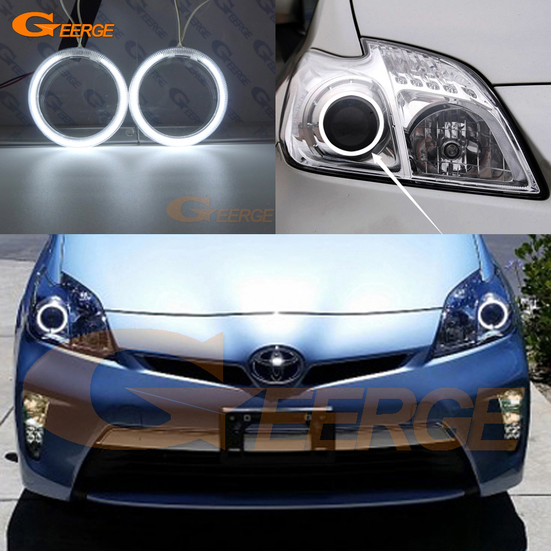 For Toyota Prius 2010 2011 2012 2013 2014 2015 Halogen Headlight Excellent Ultra bright illumination CCFL Angel Eyes kit hochitech excellent ccfl angel eyes kit ultra bright headlight illumination for ford edge 2011 2012 page 2